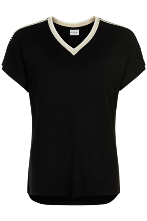 iN Front-Saharat-shirt v-neck-Black
