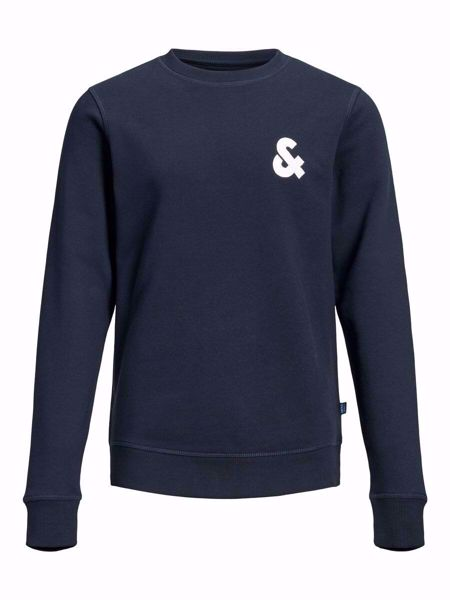 JACK&JONES JUNIOR -SWEAT MED BRYSTLOGO-NAVY