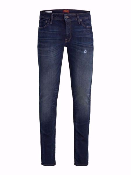 JACK&JONES-LIAM ORIGINAL JOS 650 50SPS SKINNY FIT JEANS-BLUE-DENIM