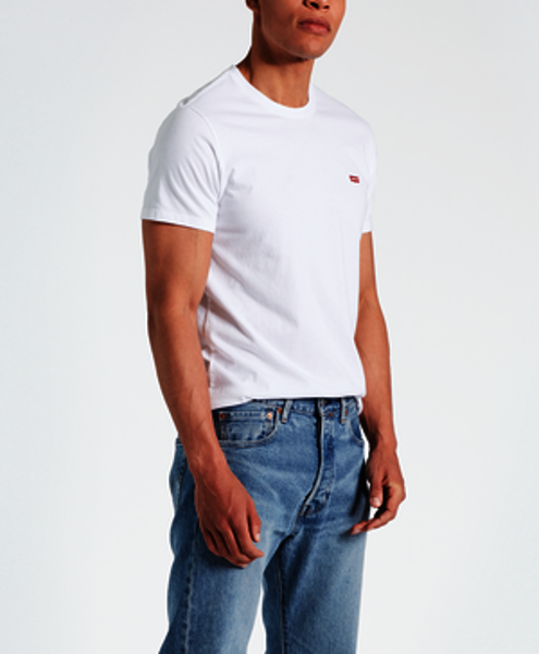 LEVI'S-ORIGINAL TEE-COTTON-+-PATCH-WHITE