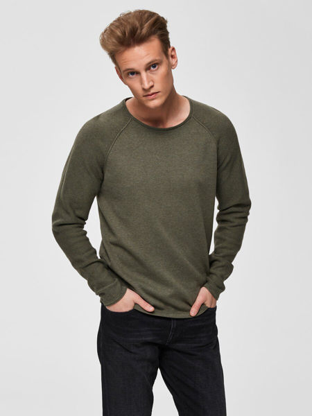 SELECTED HOMME-ORGANIC COTTON - KNITTED PULLOVER-SEA-TURTLE