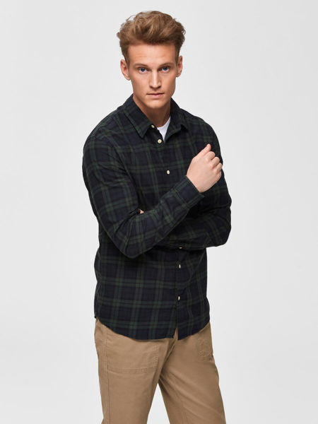 SELECTED HOMME-CHECKED - SHIRT-ROSIN