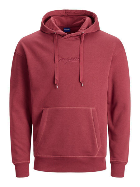 JACK&JONES-PLAIN HETTEGENSER-BRICK-RED