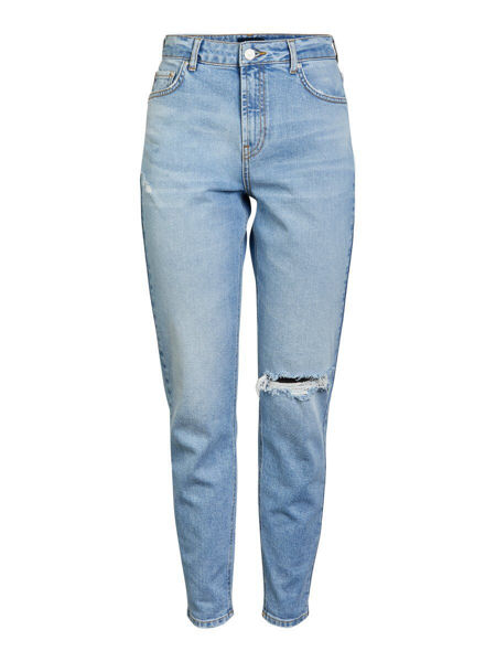LEAH MOM JEANS - LIGHT BLUE DENIM