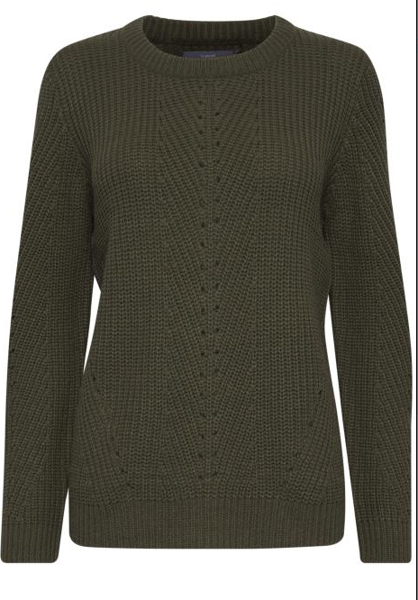 B.Young-BYMELISSA PATTERN JUMPER-Olive Night