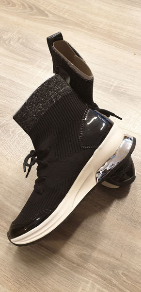 Svart Sneakers from Tamaris -Sneaker i stoff