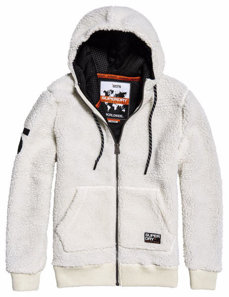 Hvit Jakker from Superdry -Core sherpa ziphood