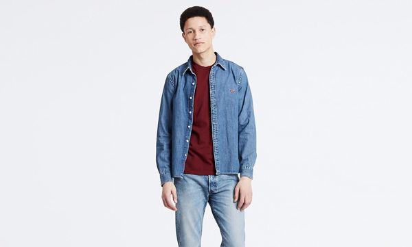 Blå Skjorter from Levi's -BATTERY SKJORTE-STONE-BLUE