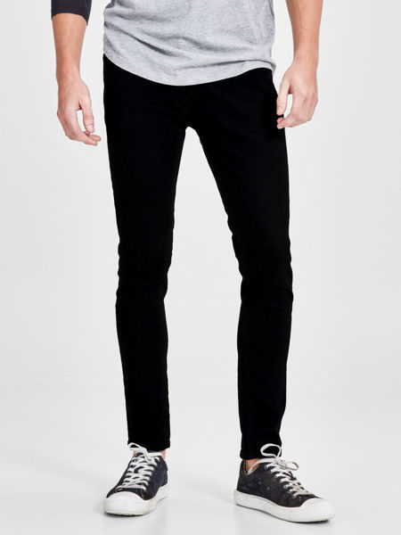 Svart Jeans from Jack&Jones -LIAM ORIGINAL AM 009 SKINNY FIT -BLACK-DENIM