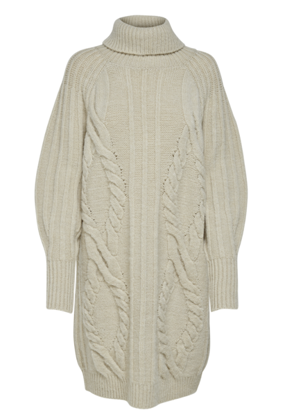 Beige Kjoler from Only -ONQFARRAH L/S LONG PULLOVER KNT