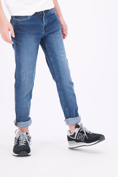 Blå Bukser from Garcia Kids -LAZLO 350 TAPERED JEANS - DARK USED 5168-DENIM-BLUE