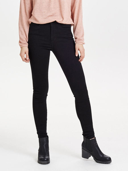 Svart Skinny Fit Jeans from Only -ROYAL HIGH WAIST  - BLACK