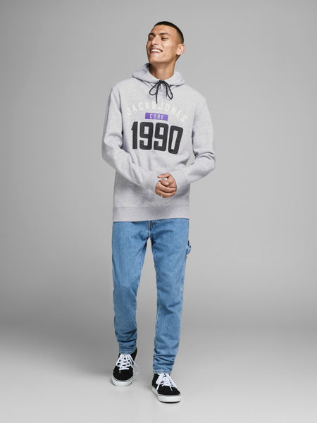 Hvit Collegegenser from Jack&Jones -CARVING HETTE GENSER - LIGHT GREY