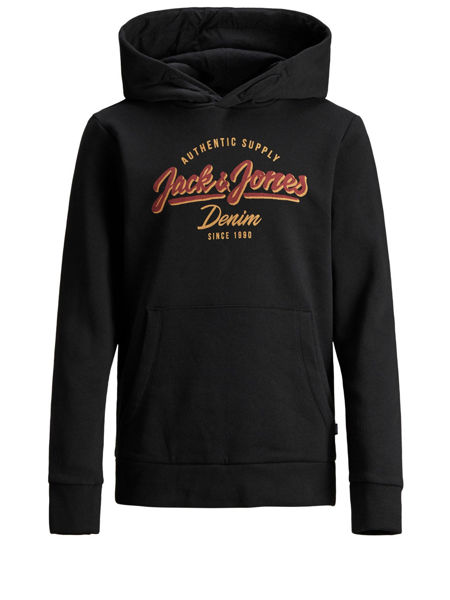 Gensere from Jack&Jones -JUNIOR -JJELOGO SWEAT HOOD BLACK