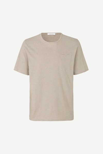 Hvit T-Skjorter & polo from Samsøe & Samsøe -FINN T-SHIRT ST 11066-BREEN-CREAM-ST.