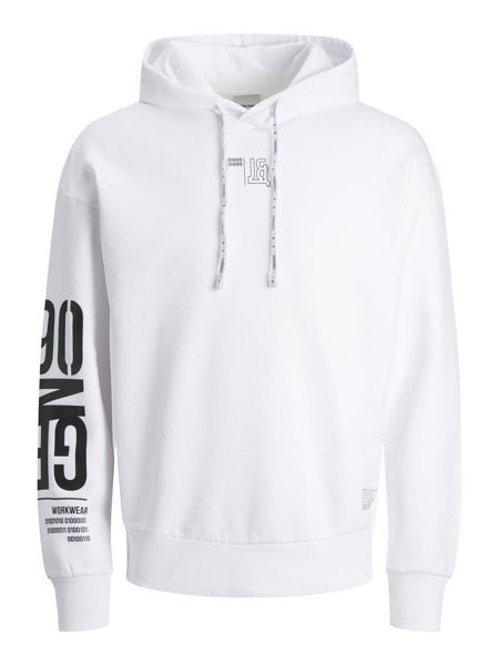 Hvit Hettegensere from Jack&Jones -BRANDON SWEAT HETTEGENSER-WHITE