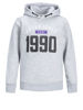 Grå Gensere from Jack&Jones -JCOCARVING SWEAT HOOD JUNIOR