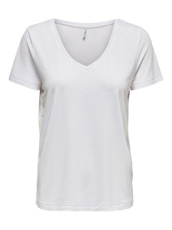 Hvit v neck T skjorte i stretchstoff (2 pakning) | Tailor Store®