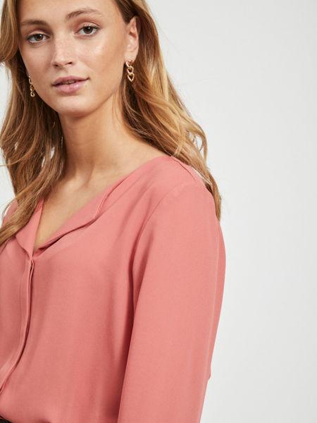 Lucy langermet bluse brandied apricot Vi:Ki dame