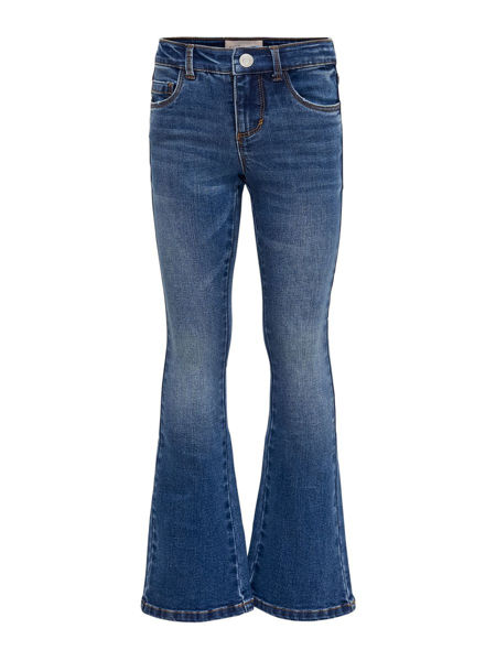 JENTE LINN FLARED JEANS MEDIUM BLUE DENIM