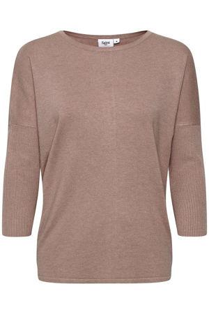 Beige Woven top  Saint Tropez  T-Skjorter - Dameklær er billig