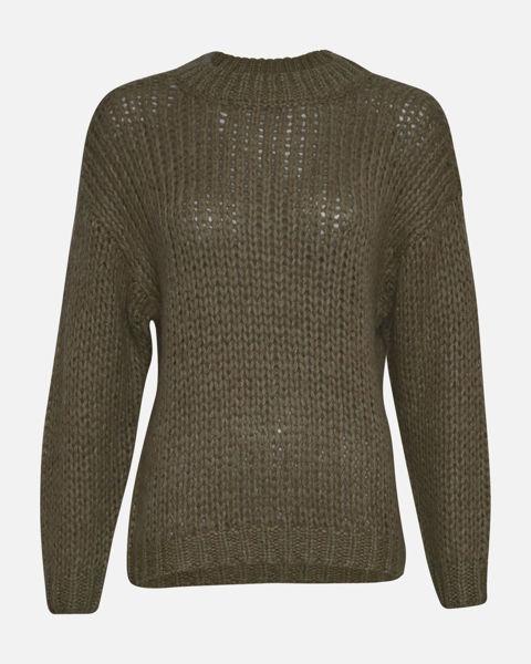 finne mønster strikkwt genser dame grønn